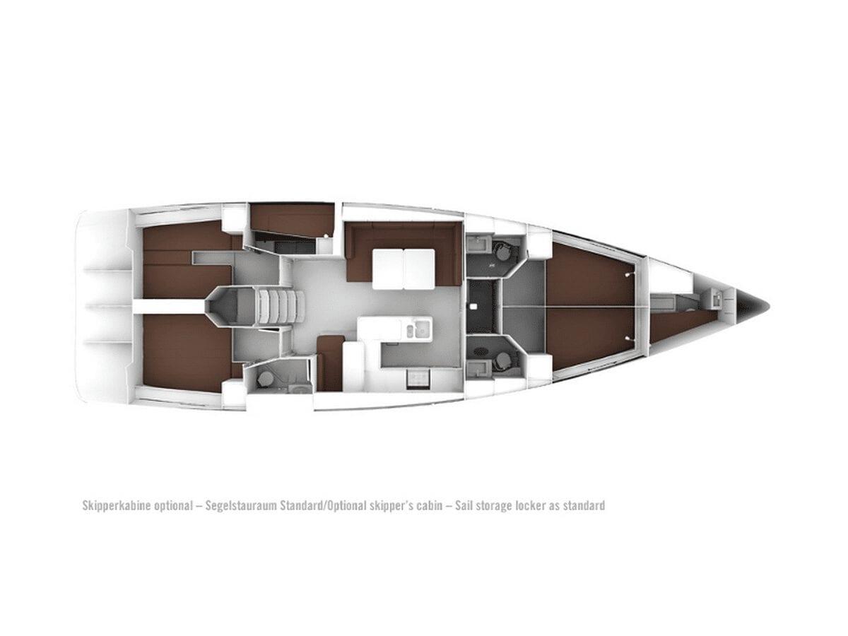 Layout Bavaria Cruiser 56 Gatsby