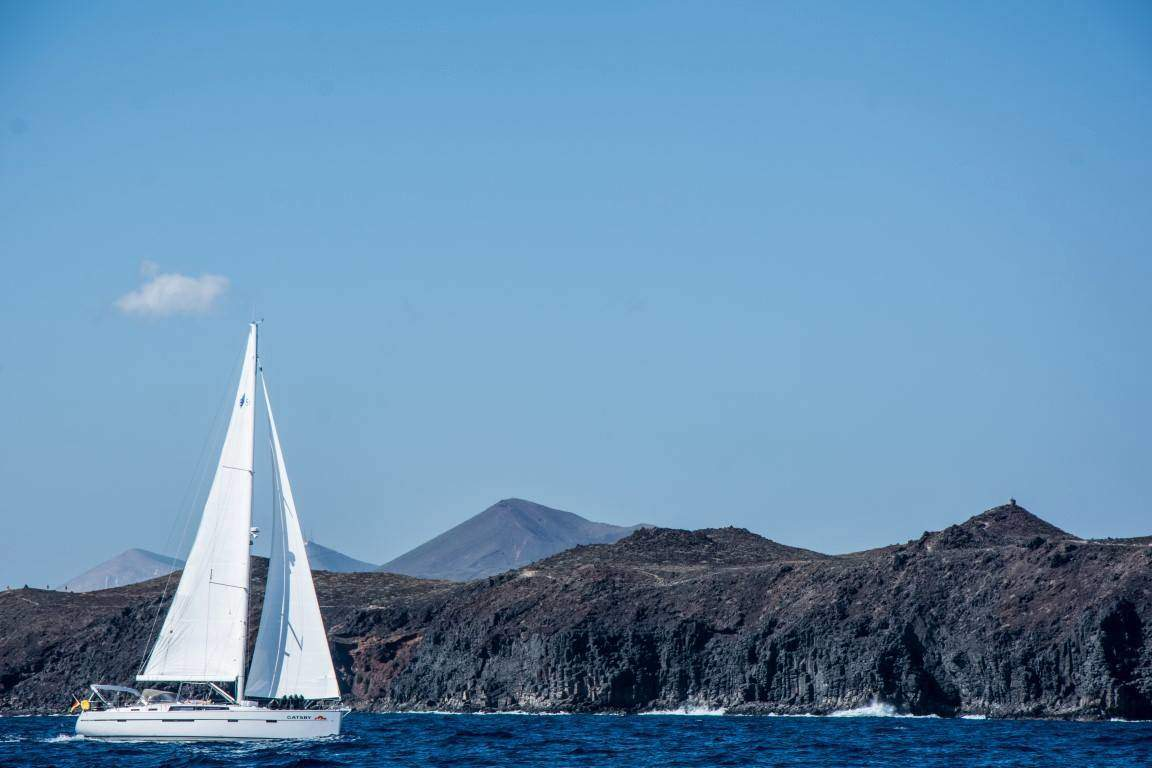 Bavaria Cruiser 56 Gatsby Sailing coast Lanzarote Atlantic Canary Islands